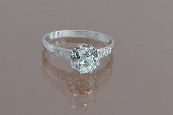 Solitaire diamant en or blanc