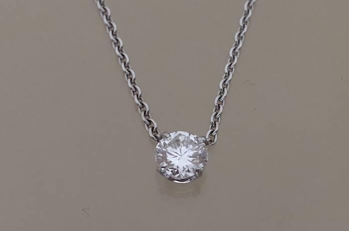 Chaine pendentif diamant en or 18k