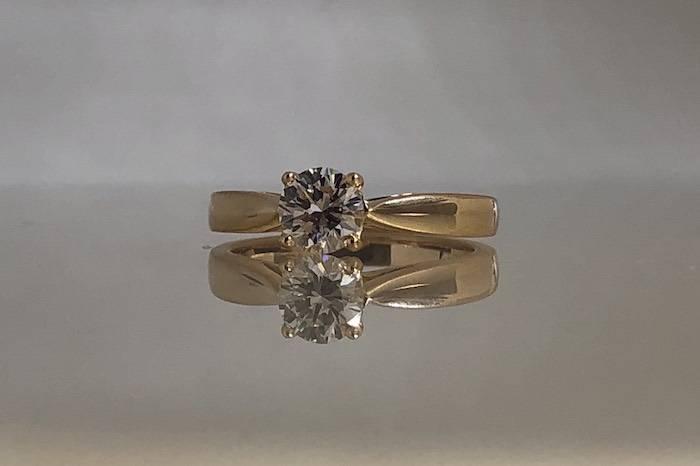 Solitaire diamant 0,64ct G / VVS2