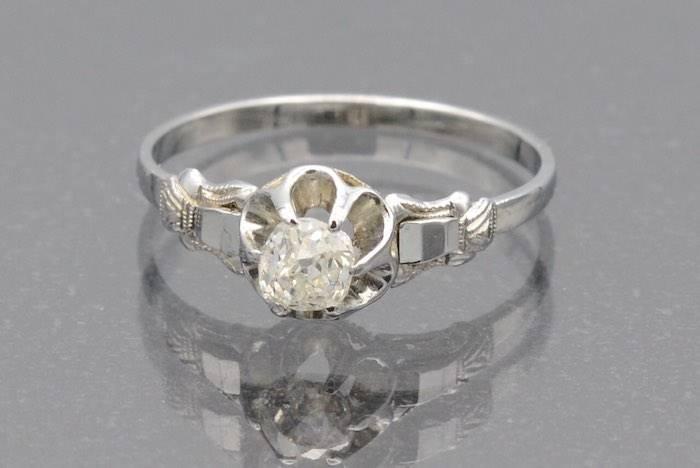 Bague solitaire diamant en or 18k