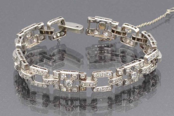 Bracelet diamants art deco