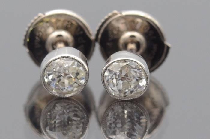 Boucles d'oreille diamants en or 18k