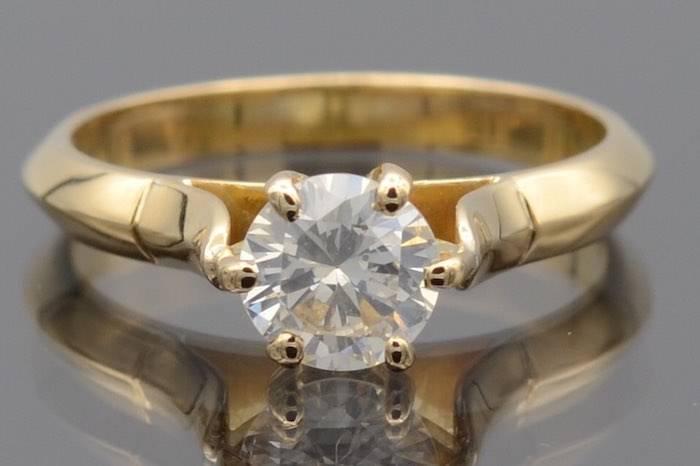 Solitaire diamant de 0,80ct
