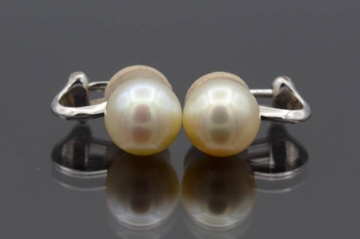 Boucles d'oreilles perles en or 18k