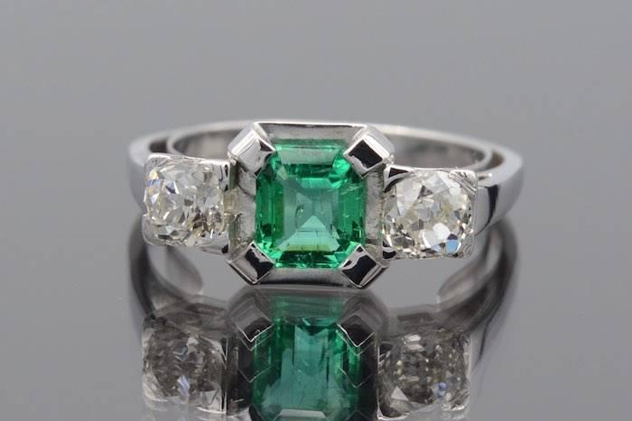 Bague êemerqude et diamants