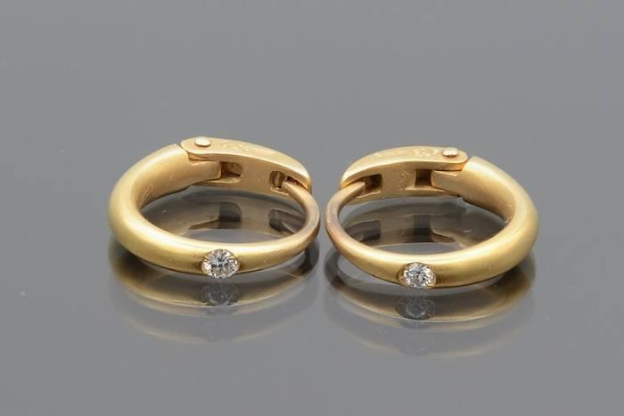 """Boucles d'oreilles diamants """"Pomellato"""" en or 18k"""