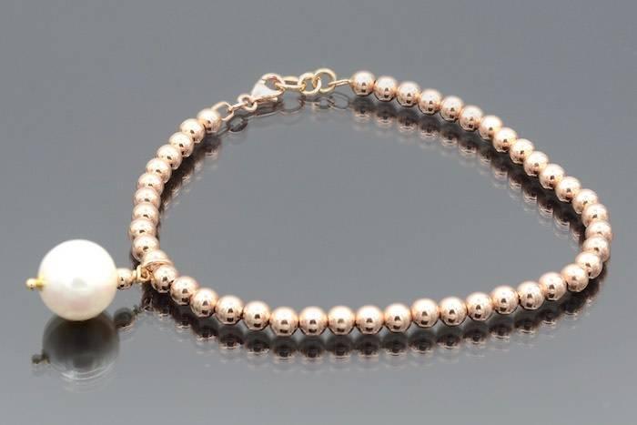 Bracelet perle en or 18k