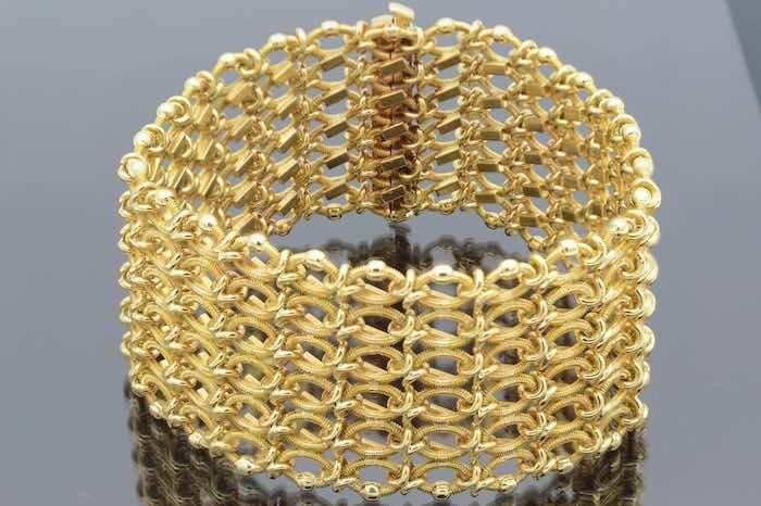 Bracelet manchette en or jaune