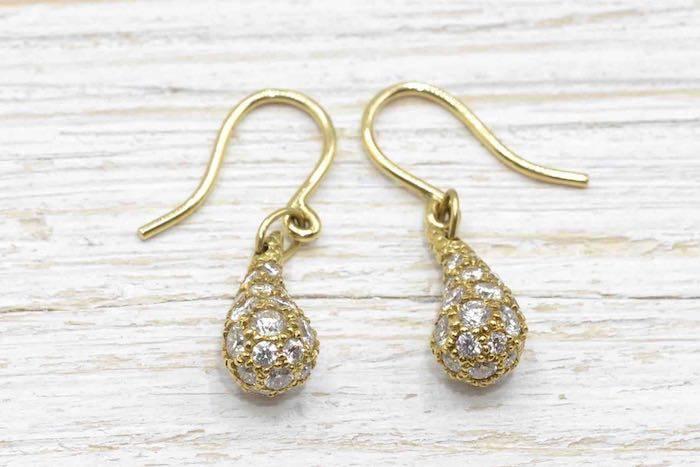 Boucles d'oreilles diamants Tiffany en or 18k