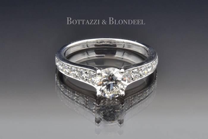 Bague solitaire diamant