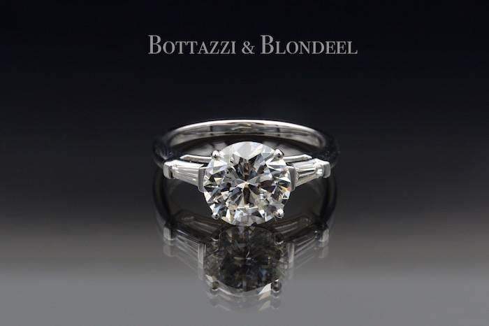 Solitaire diamant de 2,43cts Blanc Exceptionnel VS2