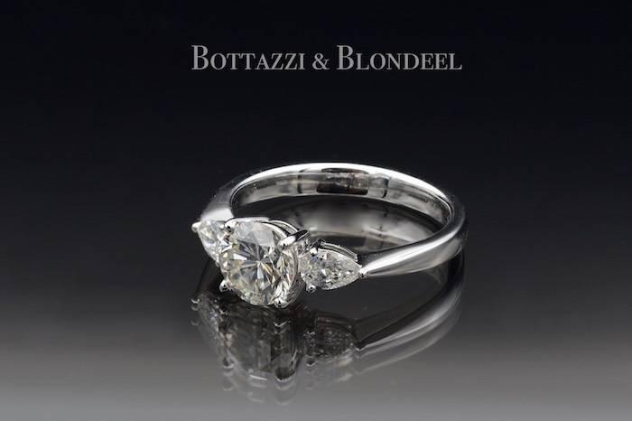 Solitaire diamants taille brillants en or 18k