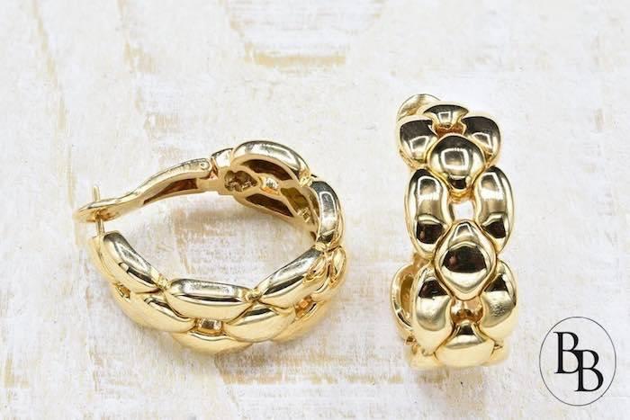 Boucles d'oreilles Cartier d'occasion en or 18k