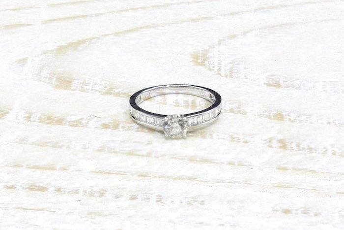 Solitaire diamants en or 18k