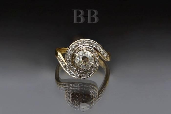 Bague tourbillon diamants d'occasion