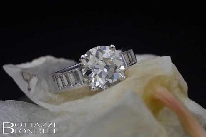 Bague solitaire diamant de 3,30 carats