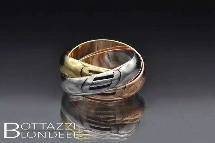 Bague Cartier trinity trois anneaux d'occasion