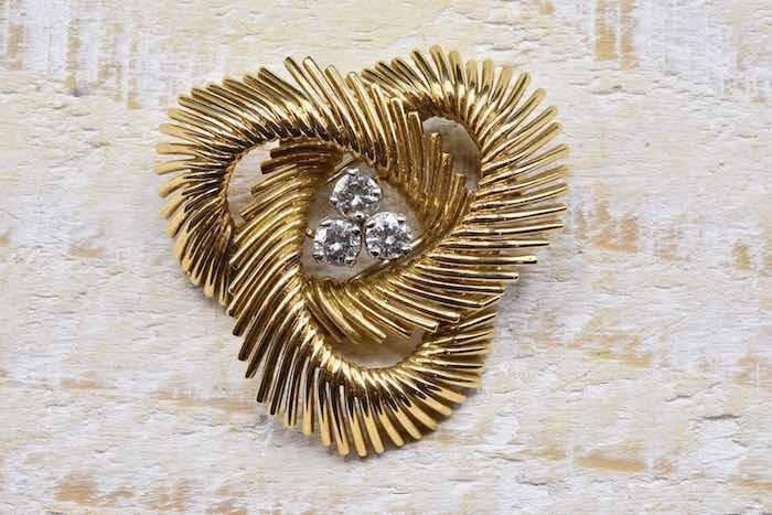 Broche 1970 diamants