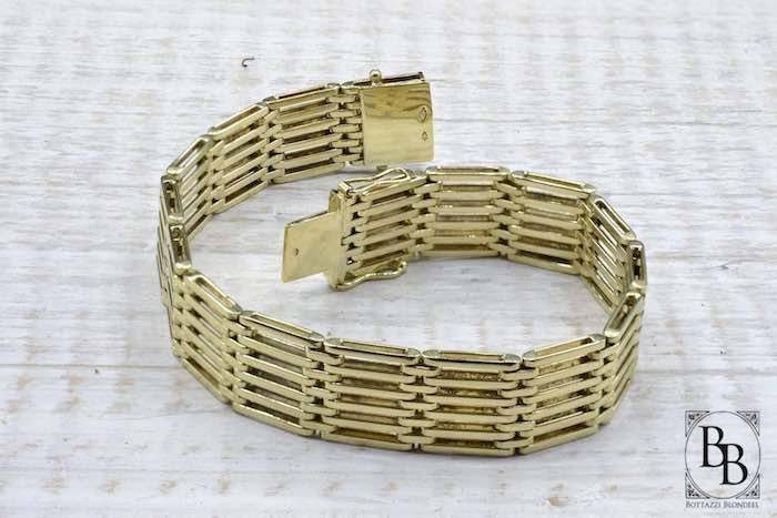 Bracelet des années 1930 en or jaune 14k