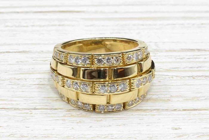Bague Cartier maillon panthère en or jaune 18k