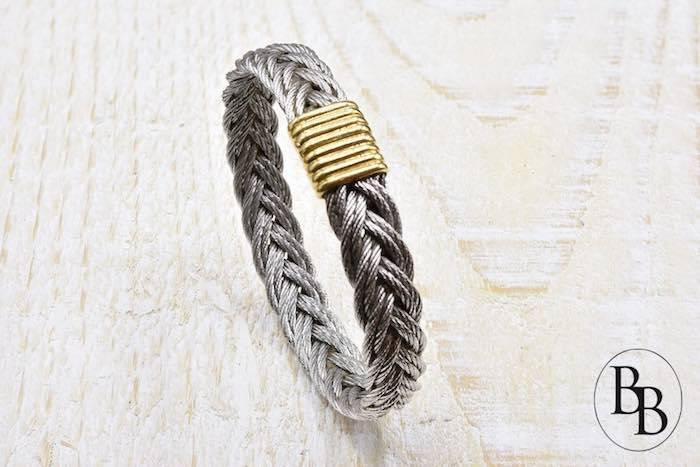 Bracelet Fred force 10 en or jaune 18k et acier