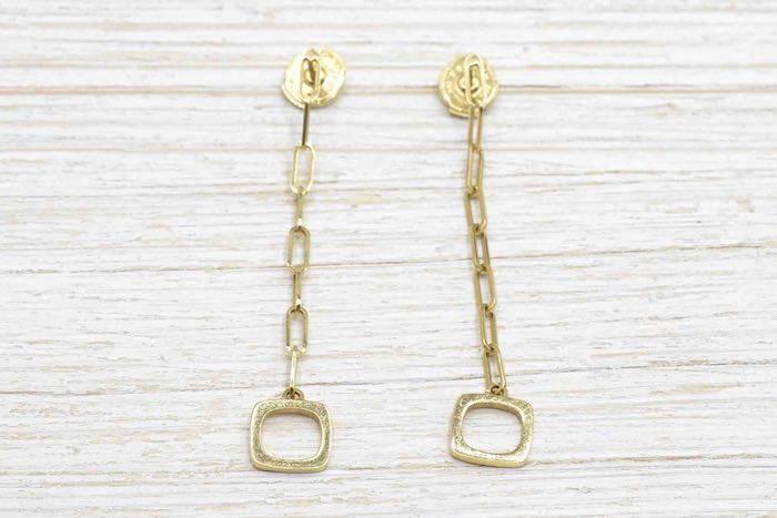 Boucles d'oreilles Dinh Van en or jaune 18k
