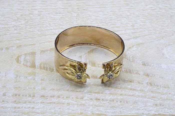Bracelet 1960 diamants en or jaune 18k