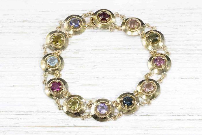 Bracelet 1950 pierres fines or jaune 18k