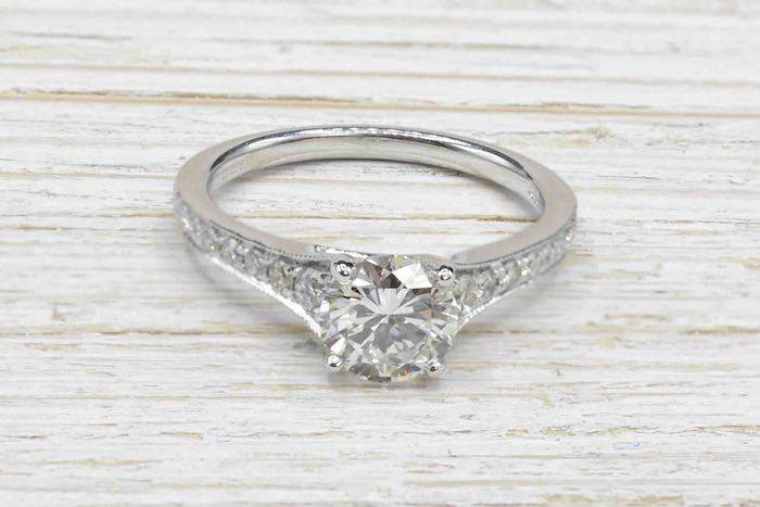 Solitaire diamant 1,06 cts H / pur 10x