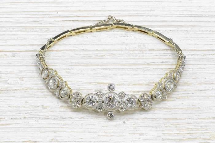 Bracelet diamants Art Déco original des années 1930