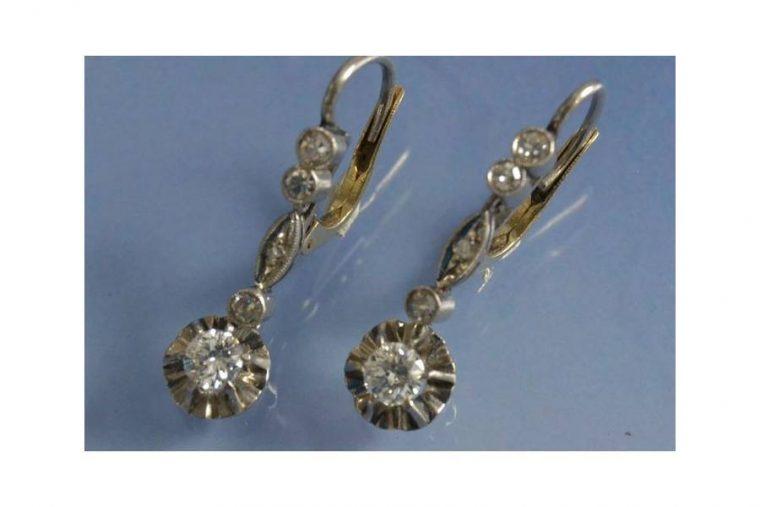 Boucle d'oreilles diamants
