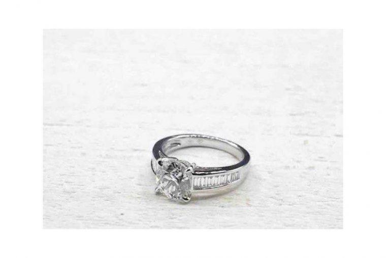 alliance diamant solitaire