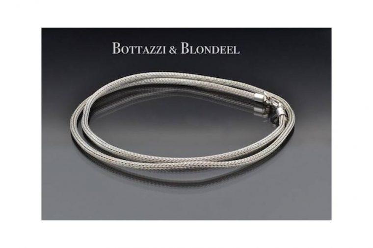 chaîne corde or blanc