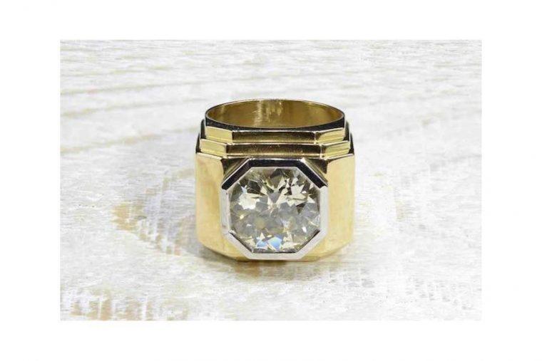 chevalière diamant