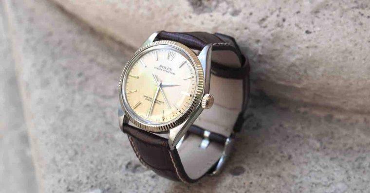 Rolex bracelet cuir