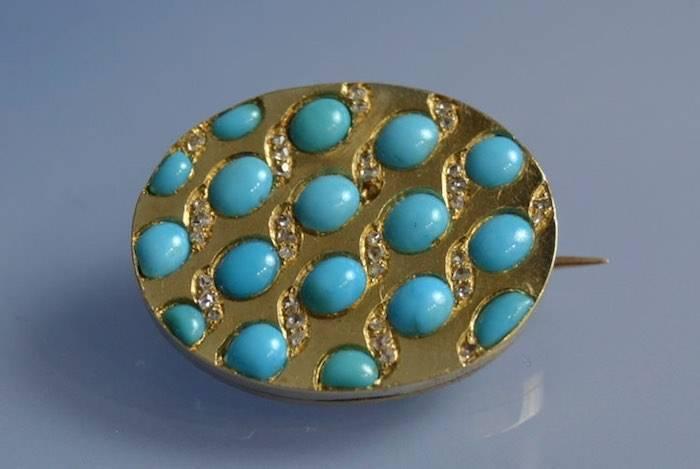 Bijoux turquoise or