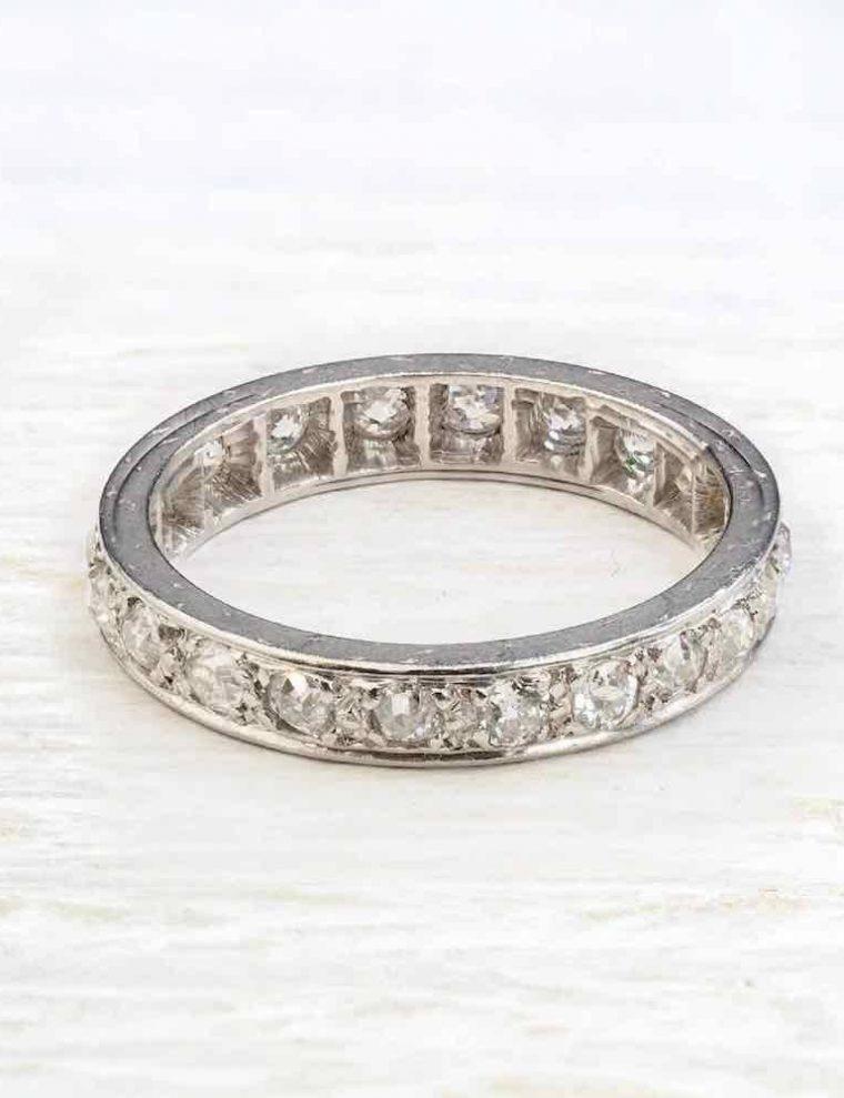 Alliance diamant et or blanc
