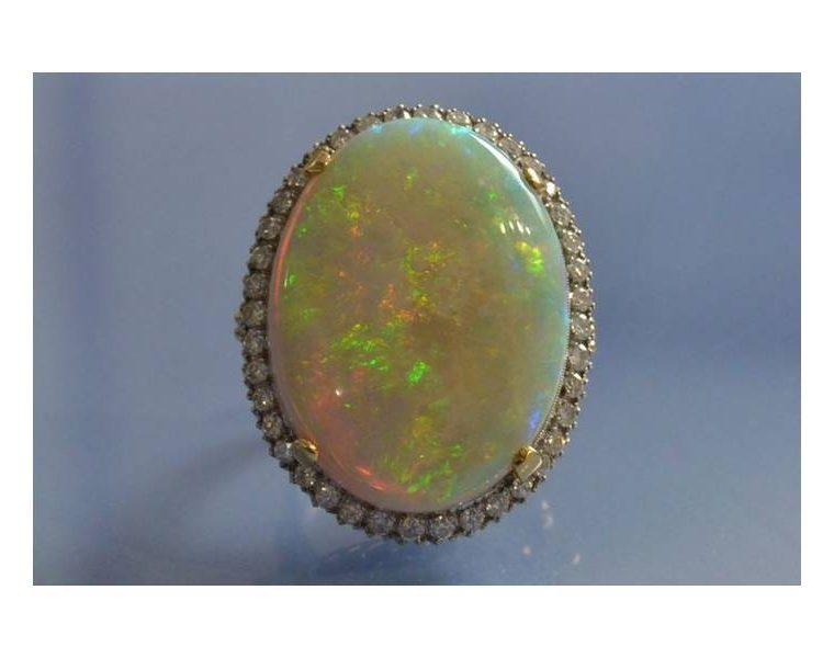 Bague femme opale