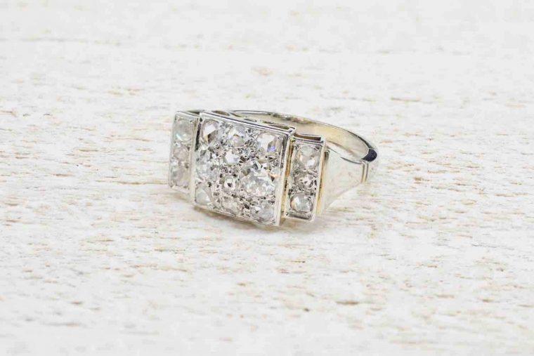 Alliance femme or rose diamant