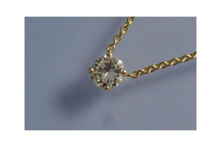 Solitaire diamant collier