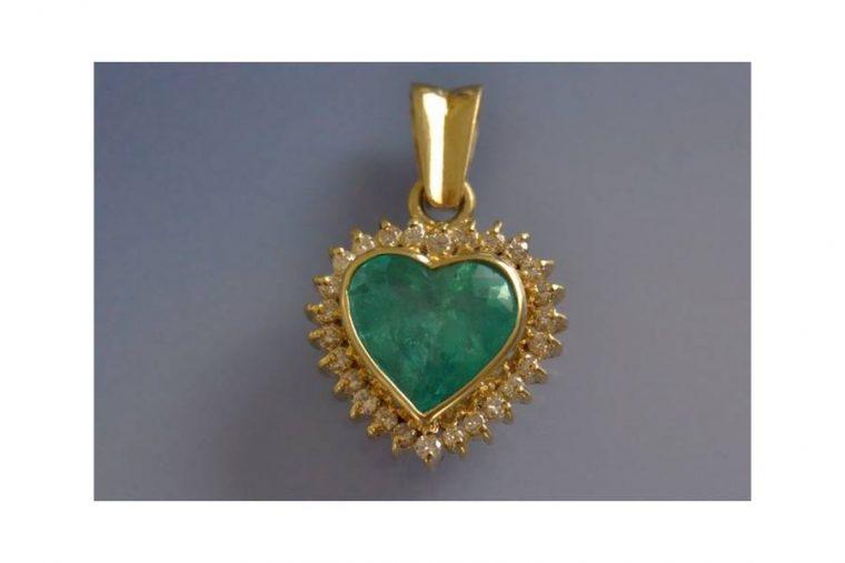 Pendentif coeur or jaune 18 carats