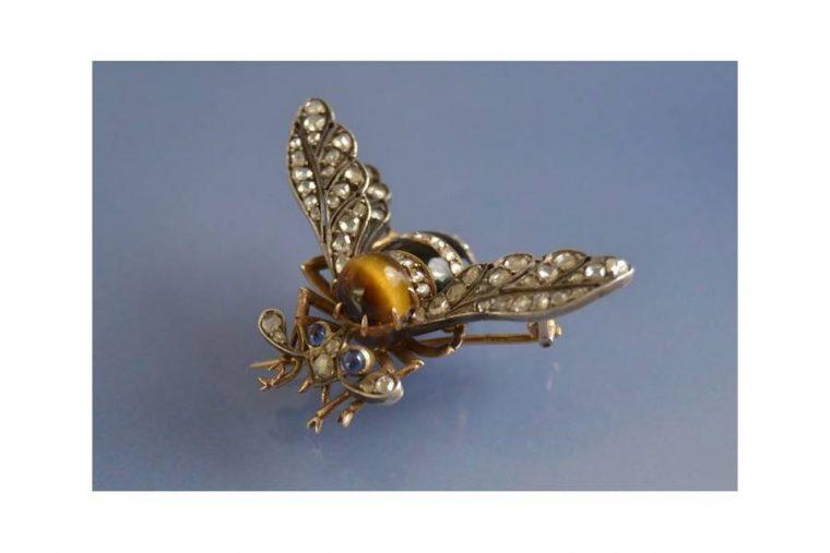 Pendentif abeille or
