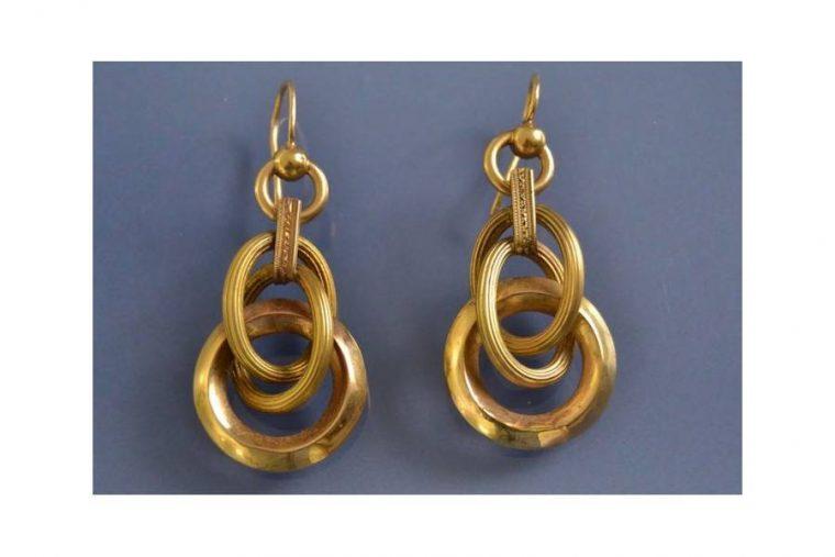 Boucle d oreille deux anneaux