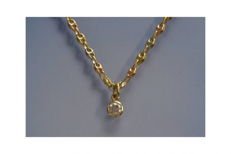 Collier or homme