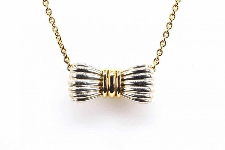 Collier or maille corde