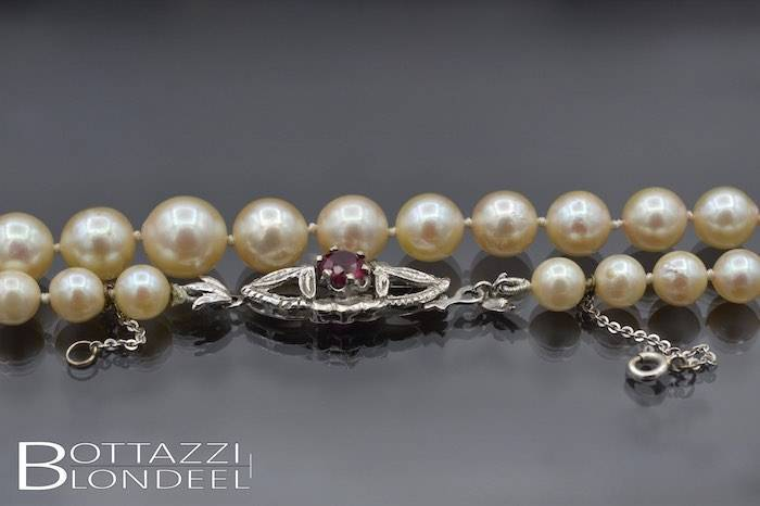 Collier perle culture or