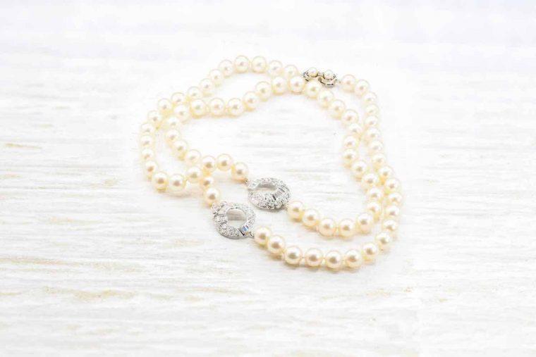 Collier perles naturelles