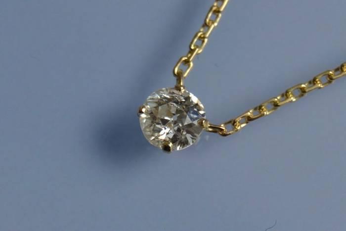 Diamant pendentif solitaire
