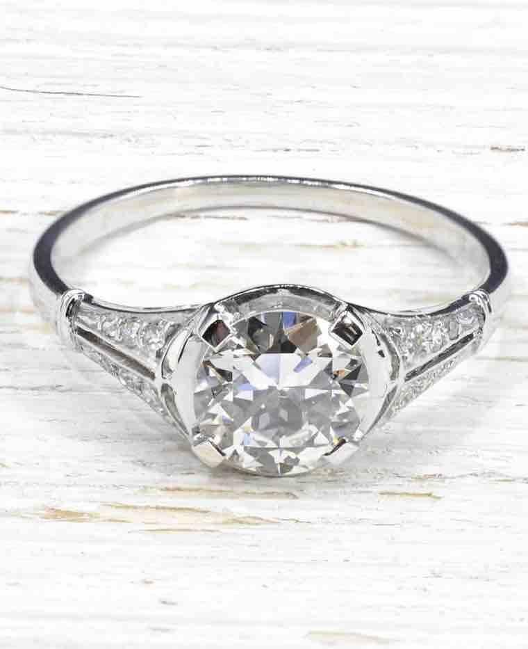 Alliance femme diamant pas cher