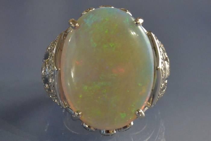Bague opale bijoux